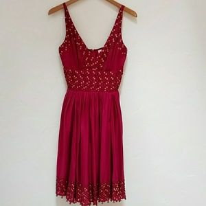 TRACY REESE VINTAGE MAGENTA BEADED DRESS - 2